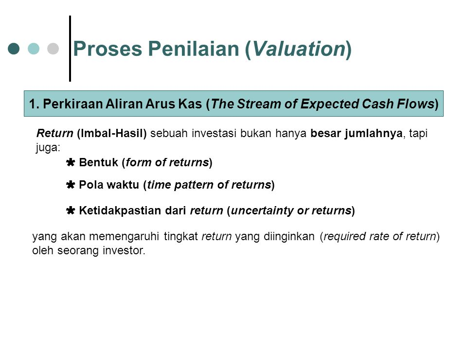 Proses Penilaian (Valuation)