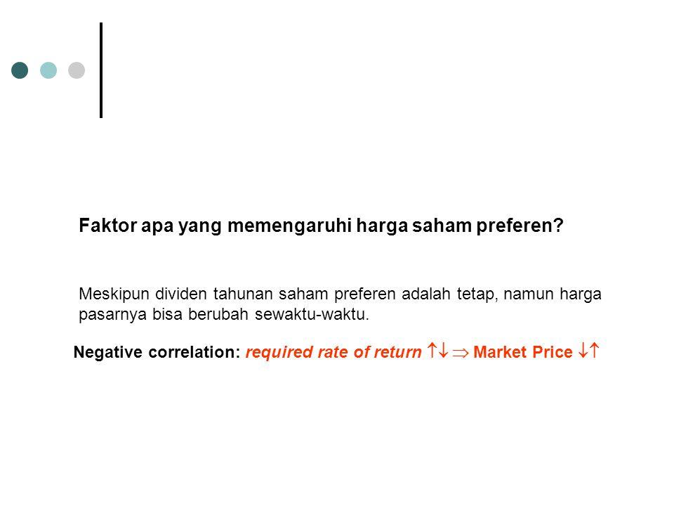 Faktor apa yang memengaruhi harga saham preferen