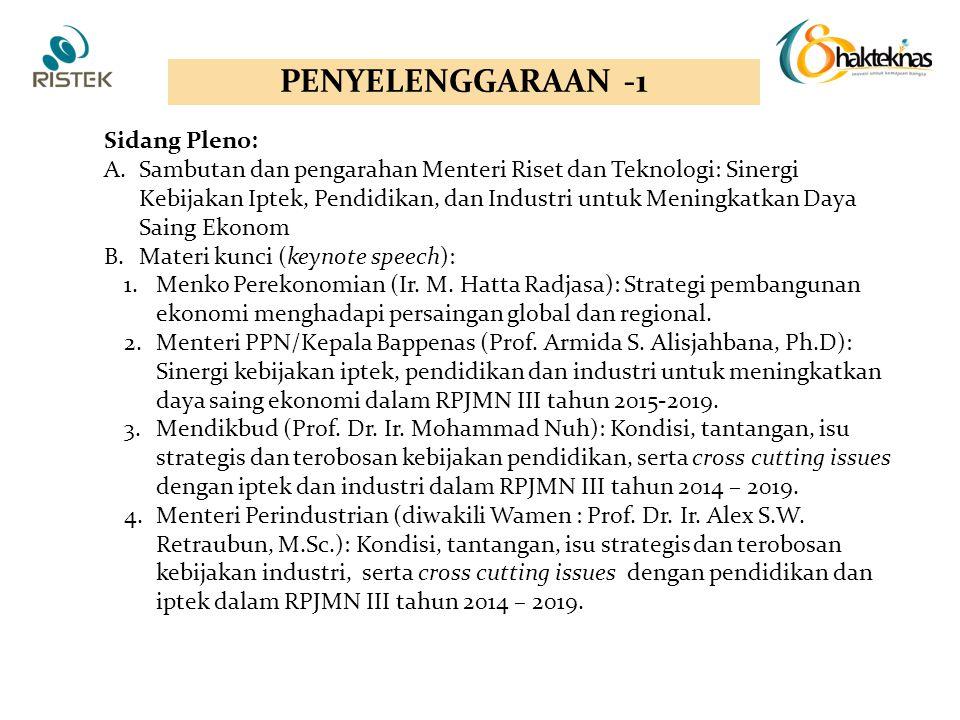 PENYELENGGARAAN -1 Sidang Pleno: