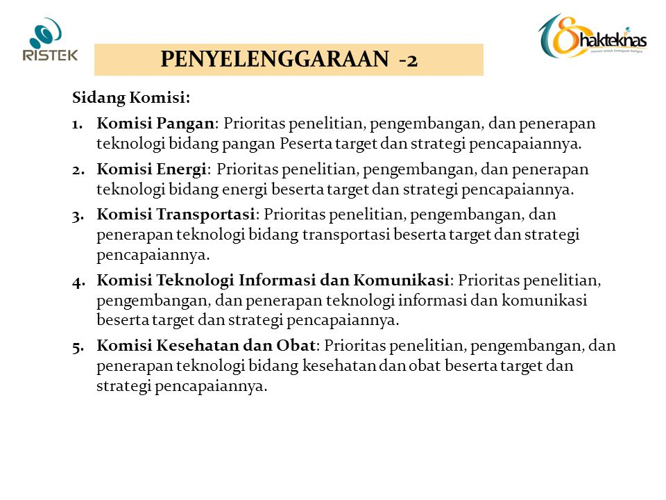 PENYELENGGARAAN -2 Sidang Komisi:
