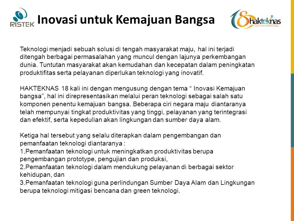 Inovasi untuk Kemajuan Bangsa