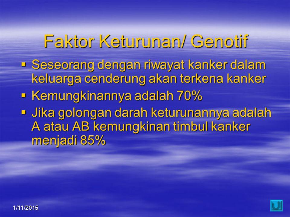 Faktor Keturunan/ Genotif