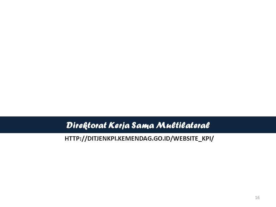 Direktorat Kerja Sama Multilateral