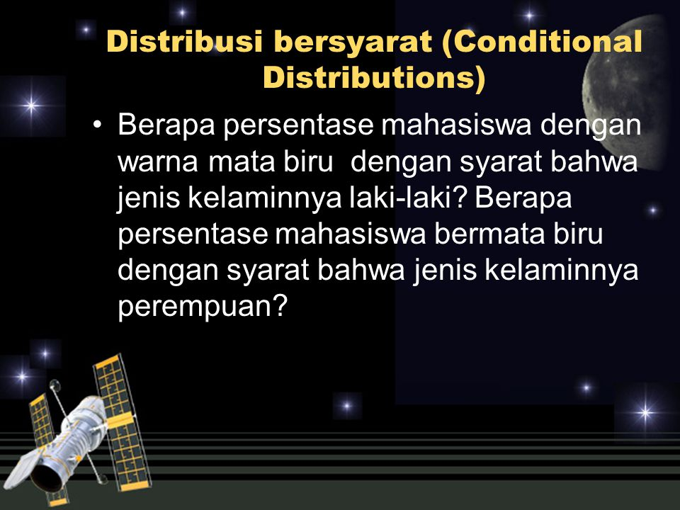 Distribusi bersyarat (Conditional Distributions)