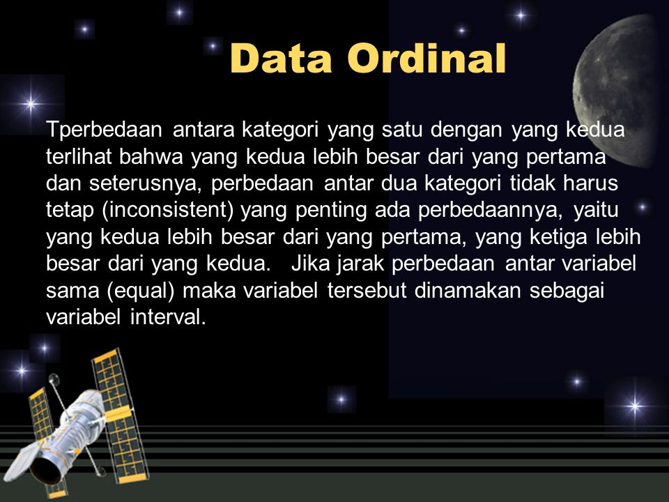 Data Ordinal
