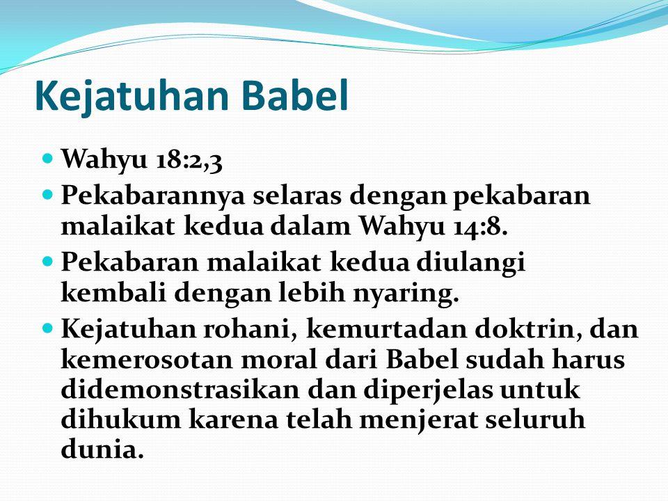 Kejatuhan Babel Wahyu 18:2,3