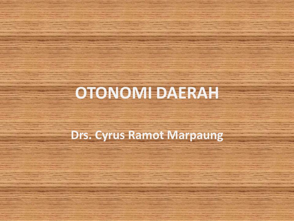 Drs. Cyrus Ramot Marpaung