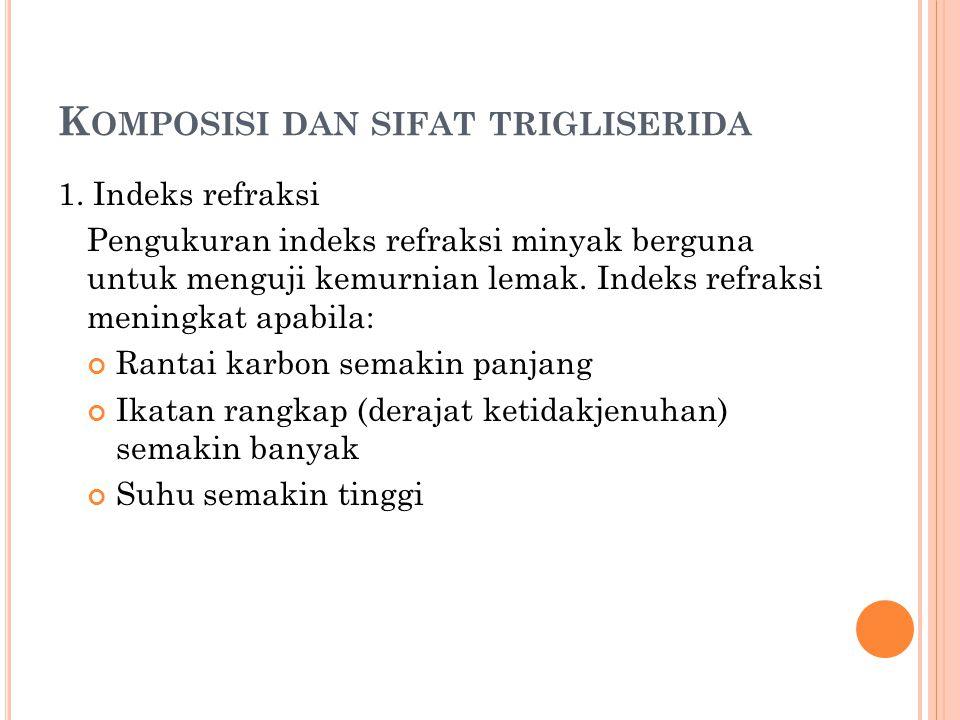 Komposisi dan sifat trigliserida