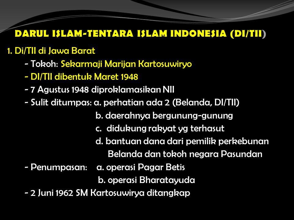 DARUL ISLAM-TENTARA ISLAM INDONESIA (DI/TII)