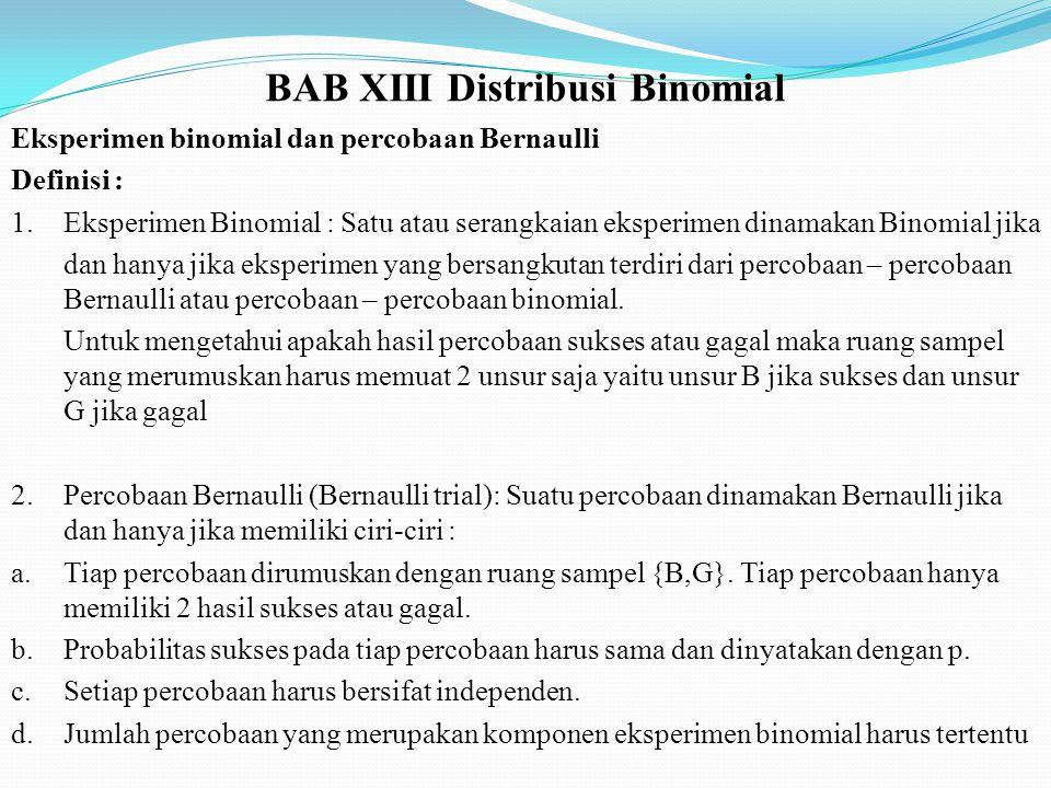 BAB XIII Distribusi Binomial