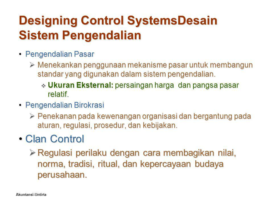 Designing Control SystemsDesain Sistem Pengendalian