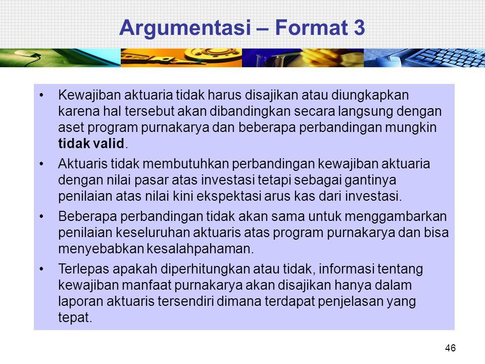 Argumentasi – Format 3