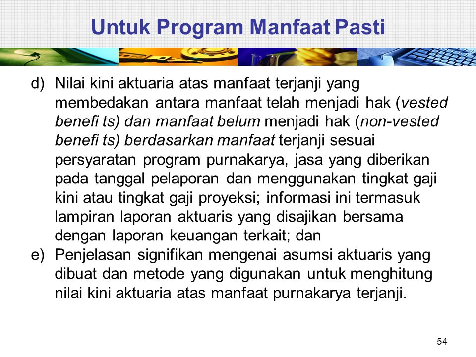 Untuk Program Manfaat Pasti