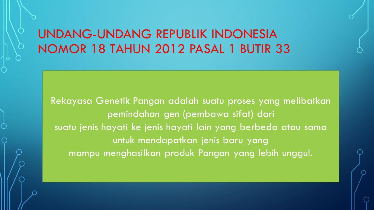 UNDANG-UNDANG REPUBLIK INDONESIA NOMOR 18 TAHUN 2012 pasal 1 butir 33