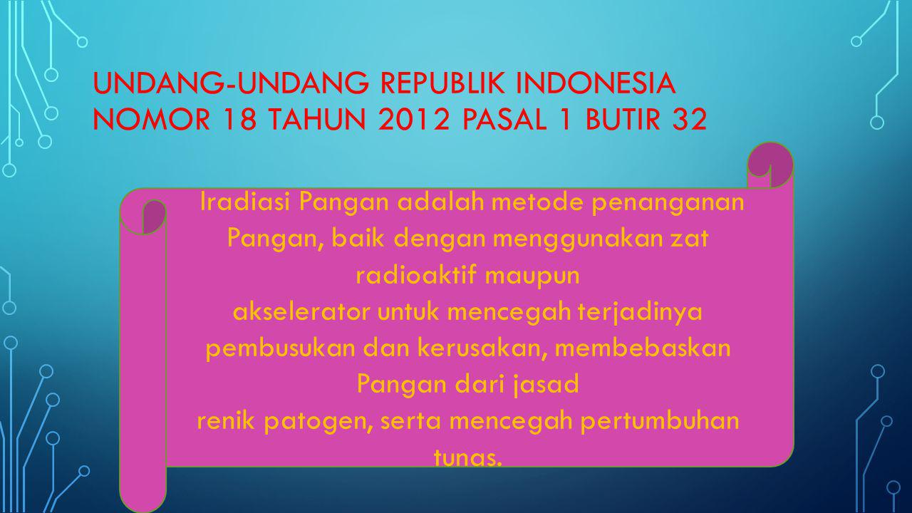 UNDANG-UNDANG REPUBLIK INDONESIA NOMOR 18 TAHUN 2012 pasal 1 butir 32