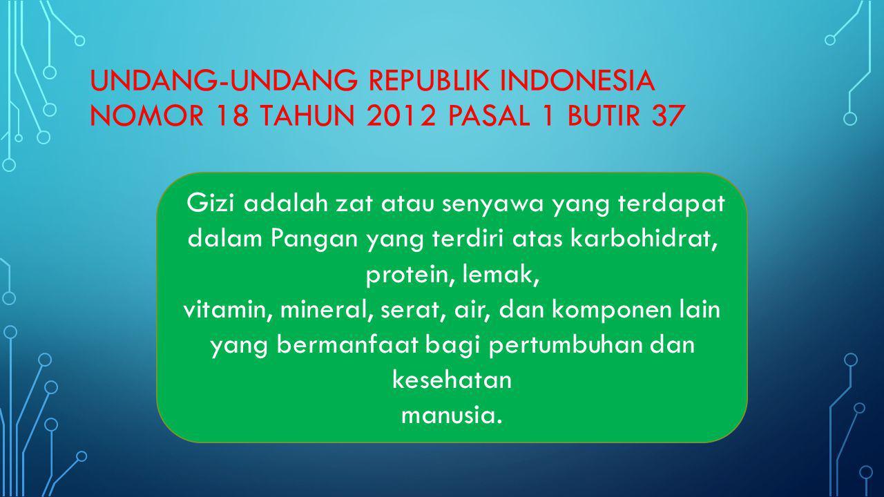 UNDANG-UNDANG REPUBLIK INDONESIA NOMOR 18 TAHUN 2012 pasal 1 butir 37