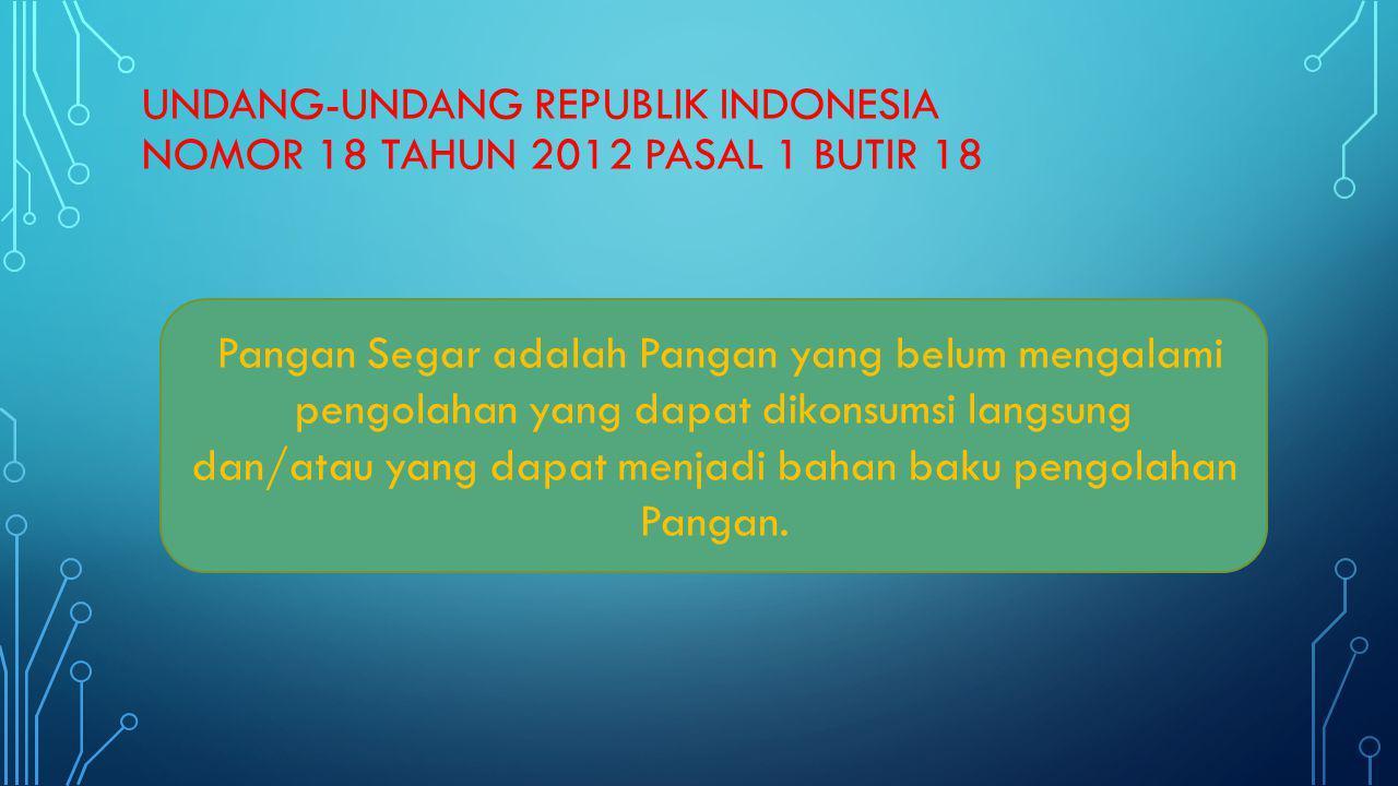 UNDANG-UNDANG REPUBLIK INDONESIA NOMOR 18 TAHUN 2012 pasal 1 butir 18