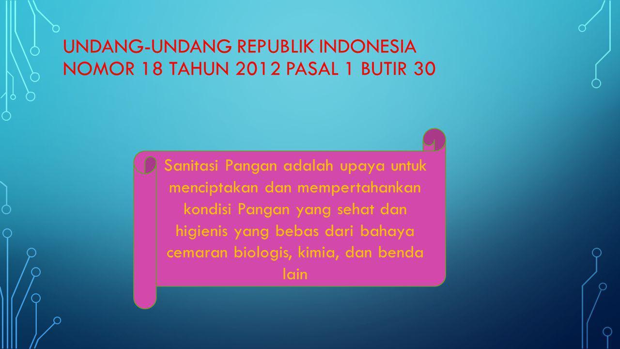 UNDANG-UNDANG REPUBLIK INDONESIA NOMOR 18 TAHUN 2012 pasal 1 butir 30
