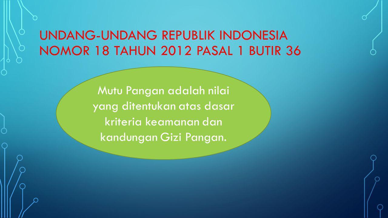 UNDANG-UNDANG REPUBLIK INDONESIA NOMOR 18 TAHUN 2012 pasal 1 butir 36