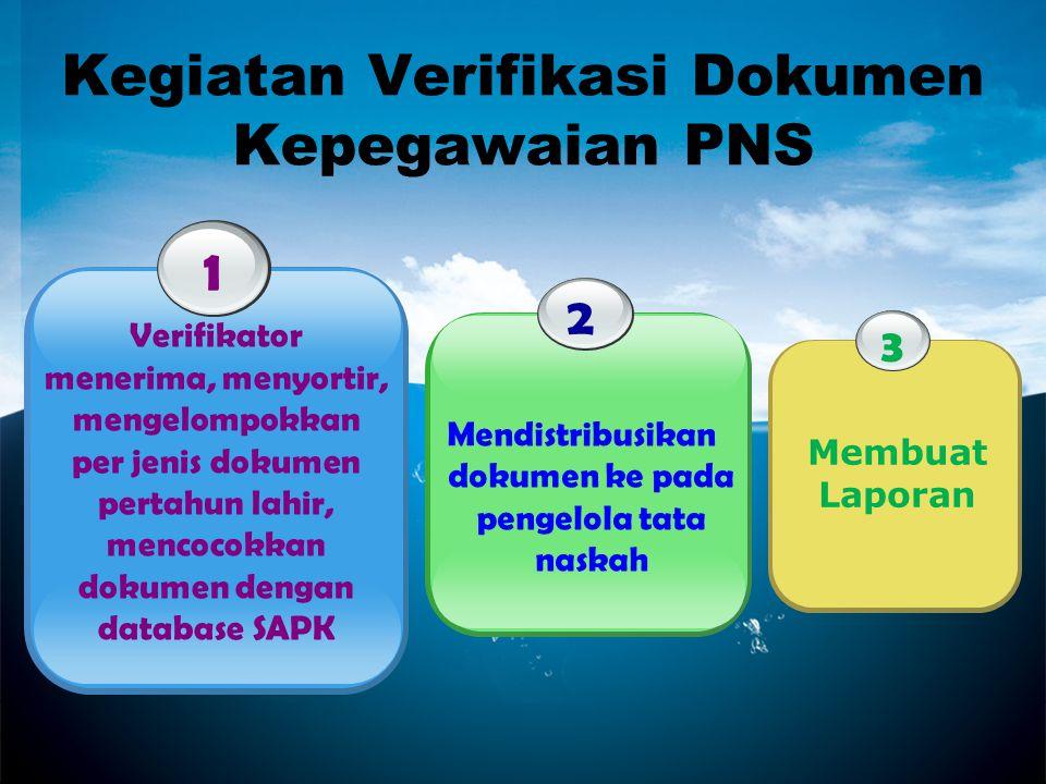 Kegiatan Verifikasi Dokumen Kepegawaian PNS