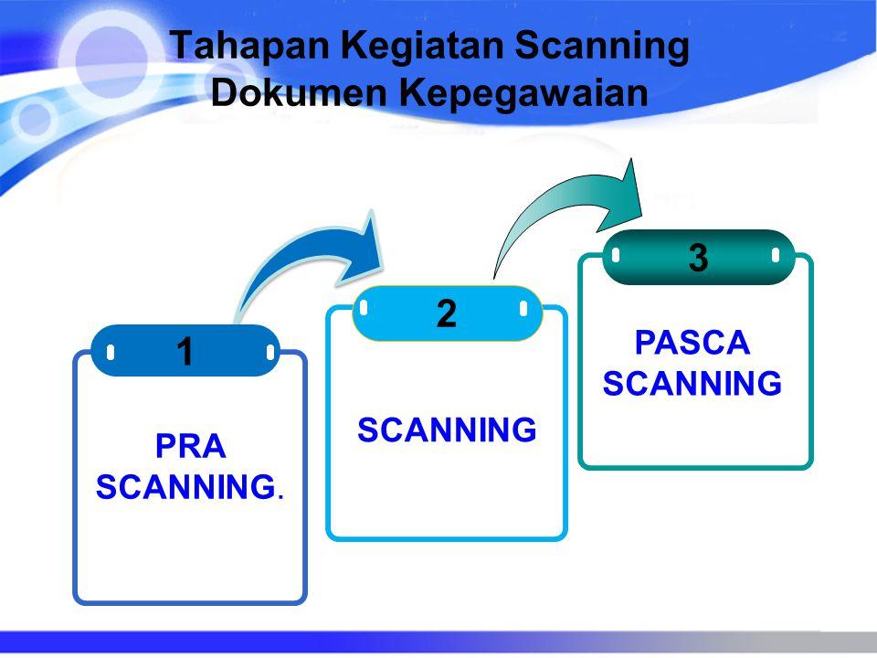 Tahapan Kegiatan Scanning Dokumen Kepegawaian