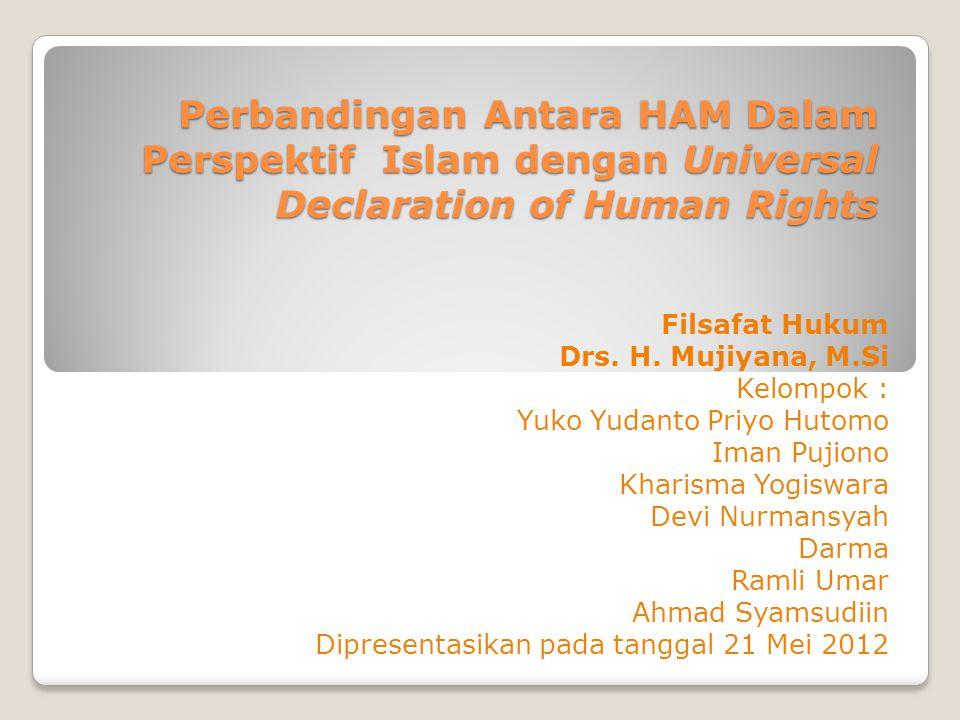 Perbandingan Antara HAM Dalam Perspektif Islam dengan Universal Declaration of Human Rights