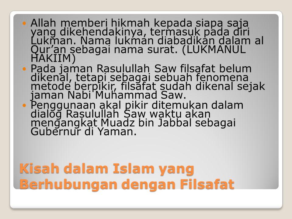 Kisah dalam Islam yang Berhubungan dengan Filsafat