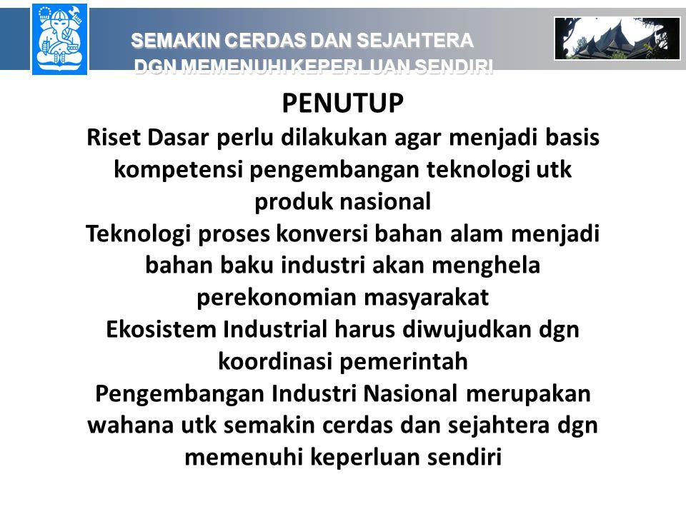 Ekosistem Industrial harus diwujudkan dgn koordinasi pemerintah