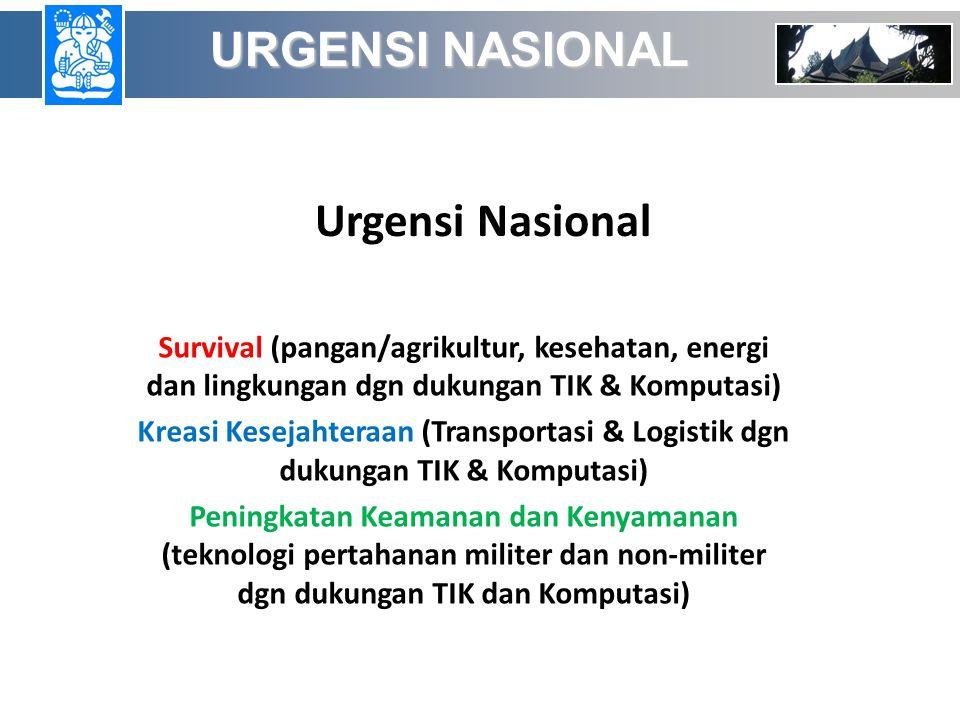 URGENSI NASIONAL Urgensi Nasional