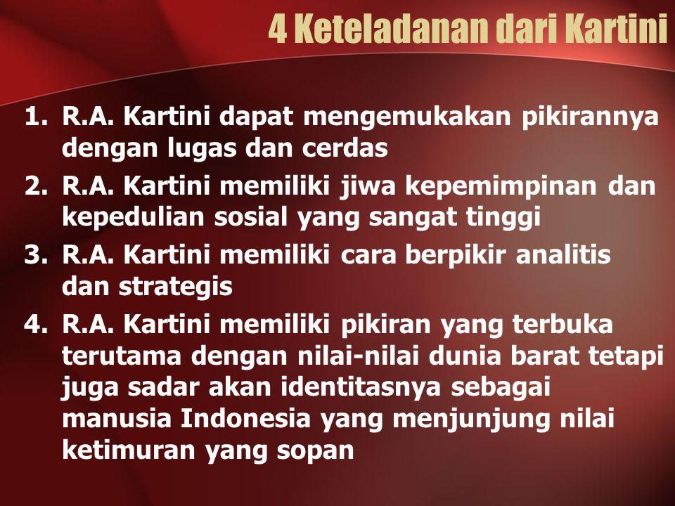 4 Keteladanan dari Kartini