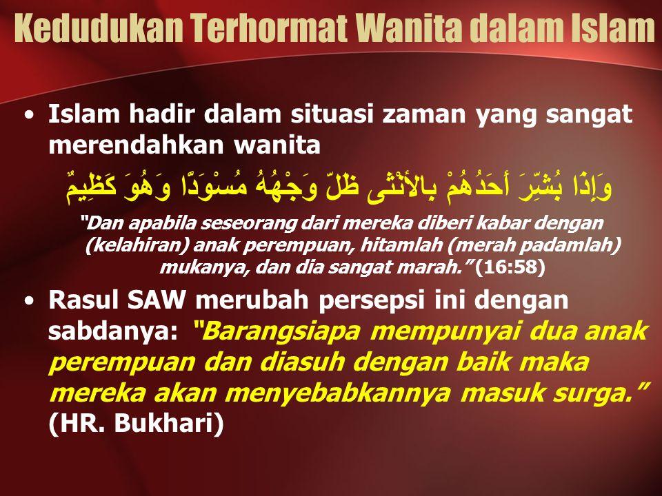 Kedudukan Terhormat Wanita dalam Islam