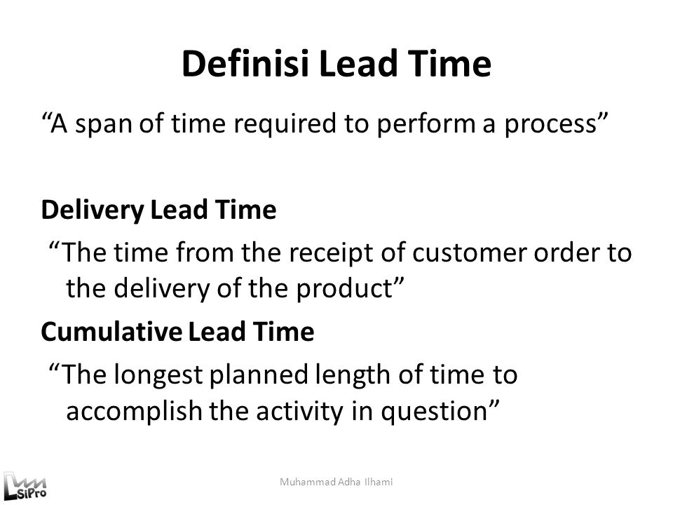 Definisi Lead Time