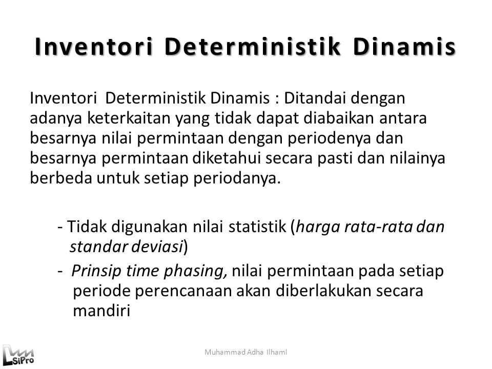 Inventori Deterministik Dinamis