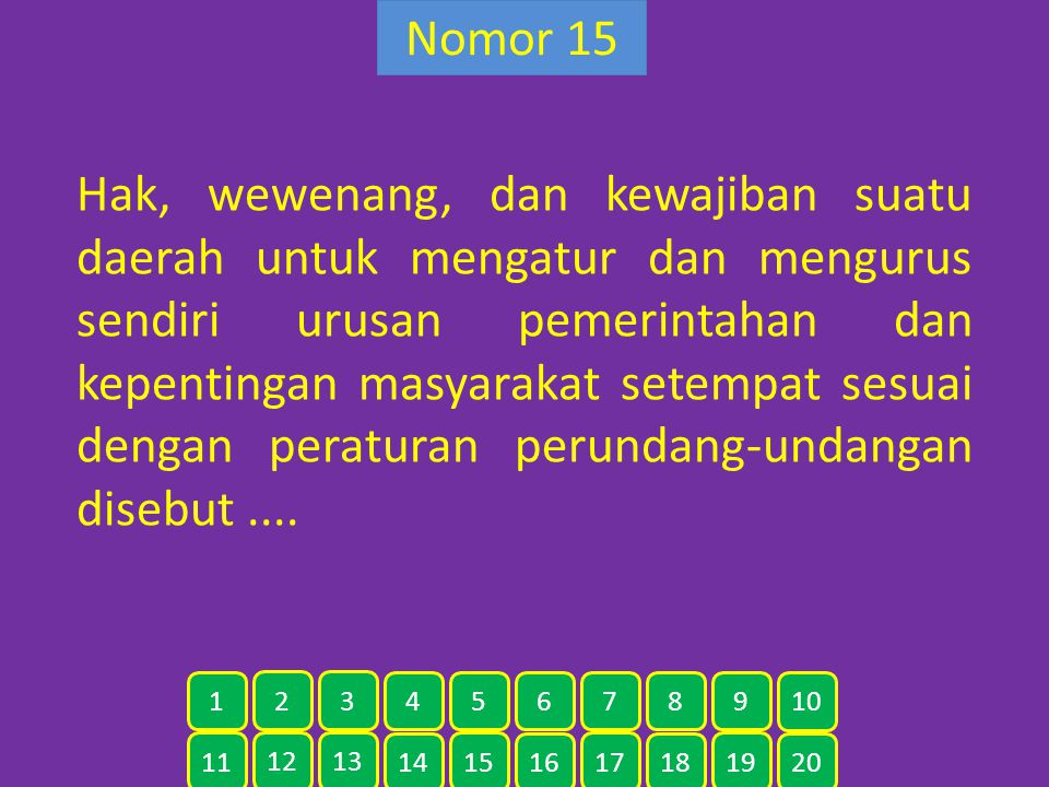 Nomor 15