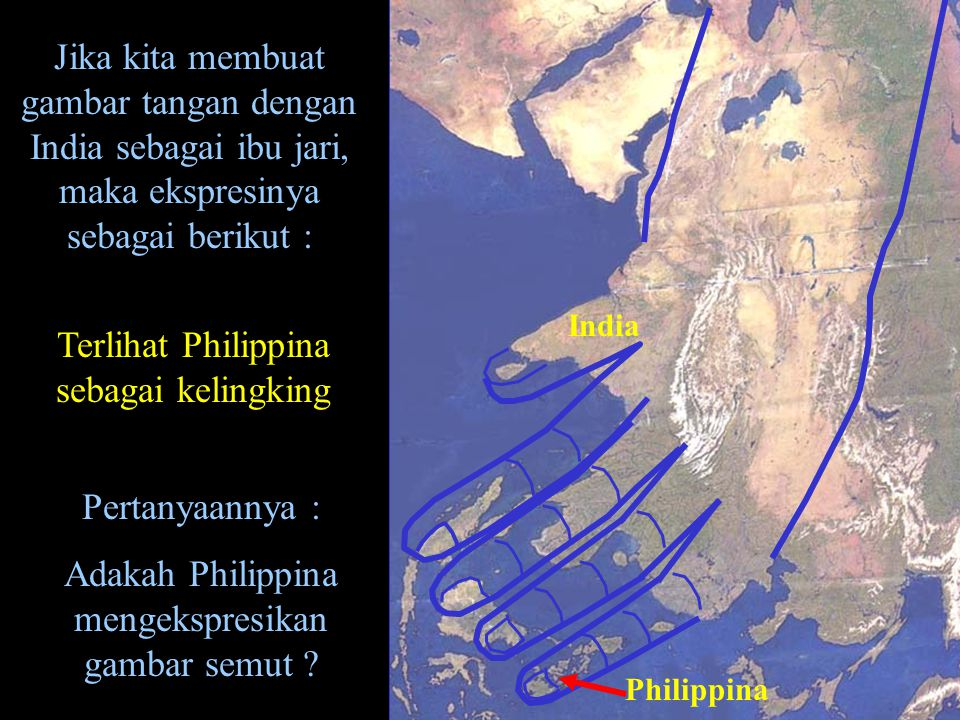 Terlihat Philippina sebagai kelingking