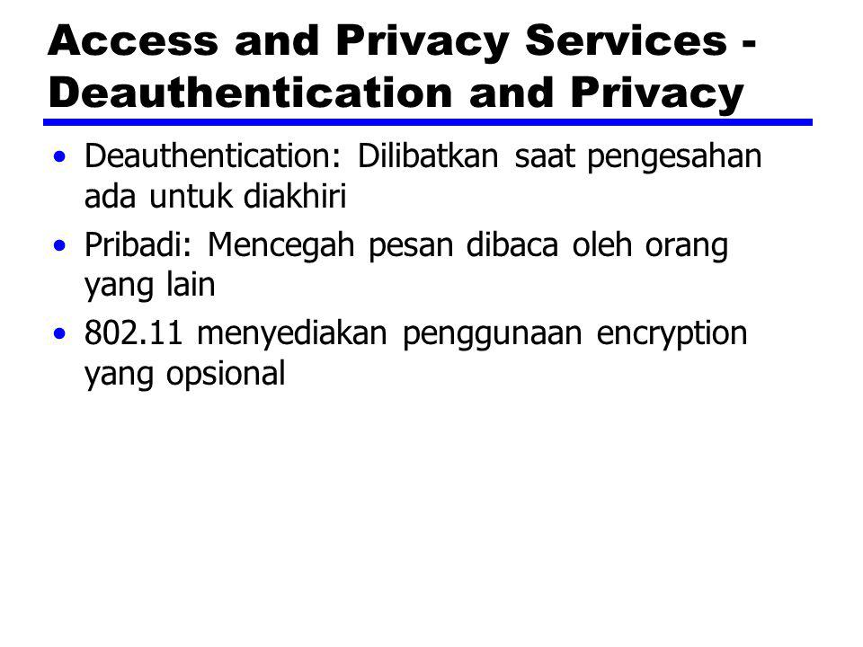 Access and Privacy Services - Deauthentication and Privacy