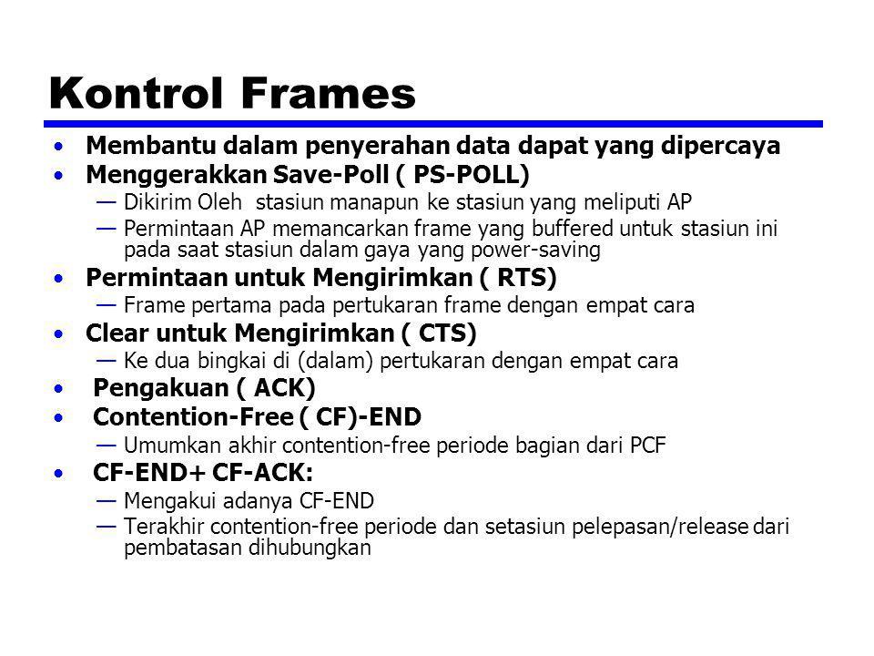 Kontrol Frames Membantu dalam penyerahan data dapat yang dipercaya