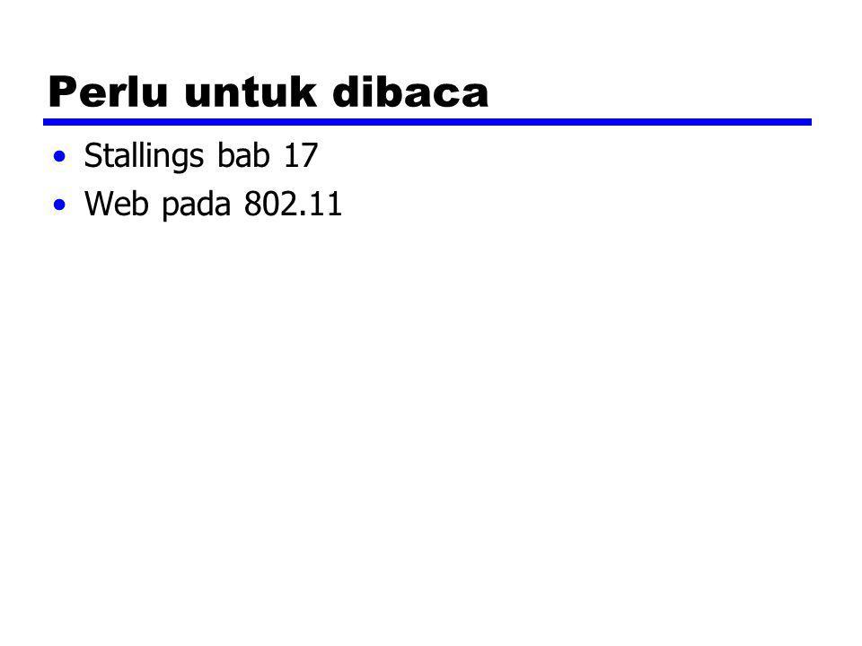 Perlu untuk dibaca Stallings bab 17 Web pada 802.11
