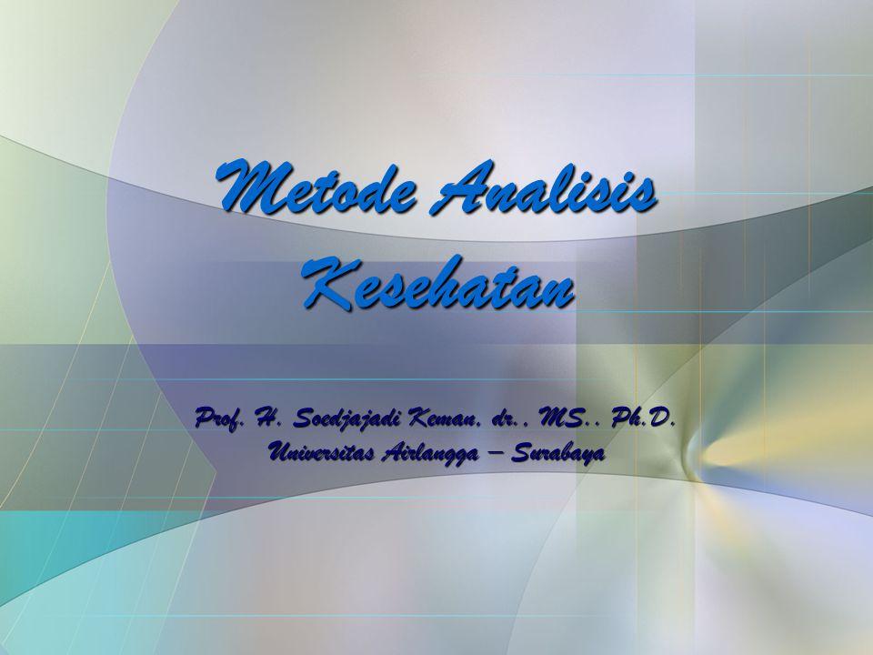 Metode Analisis Kesehatan