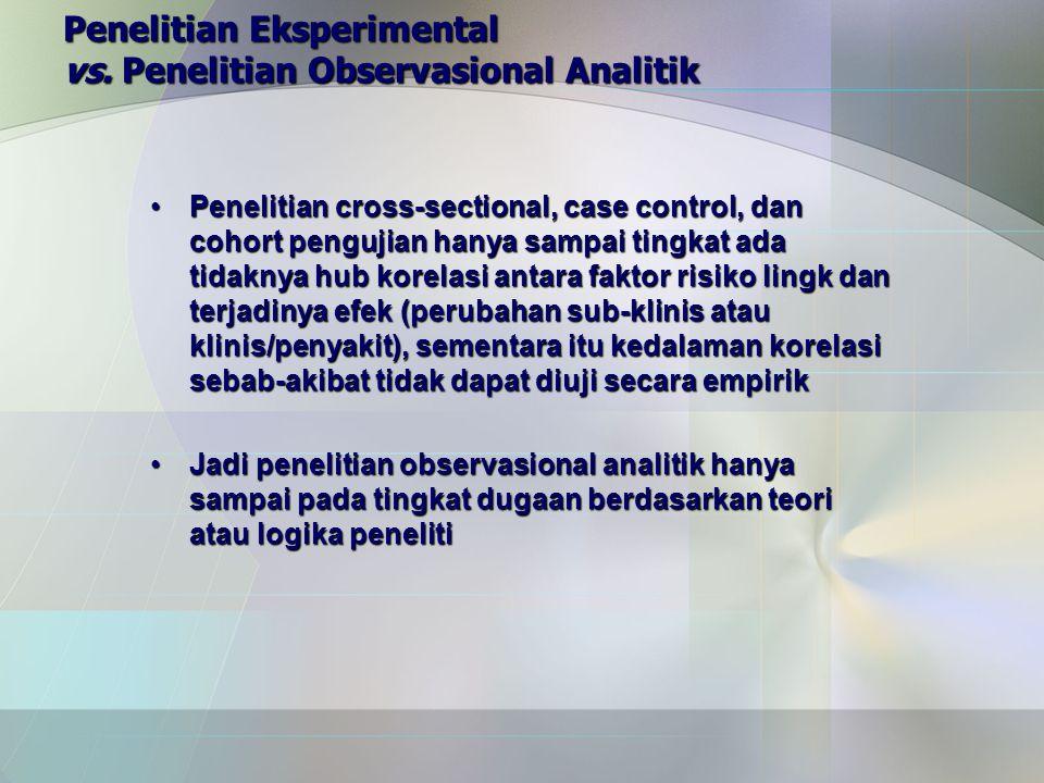 Penelitian Eksperimental vs. Penelitian Observasional Analitik