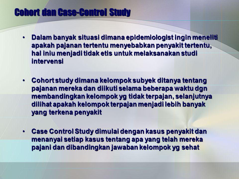 Cohort dan Case-Control Study