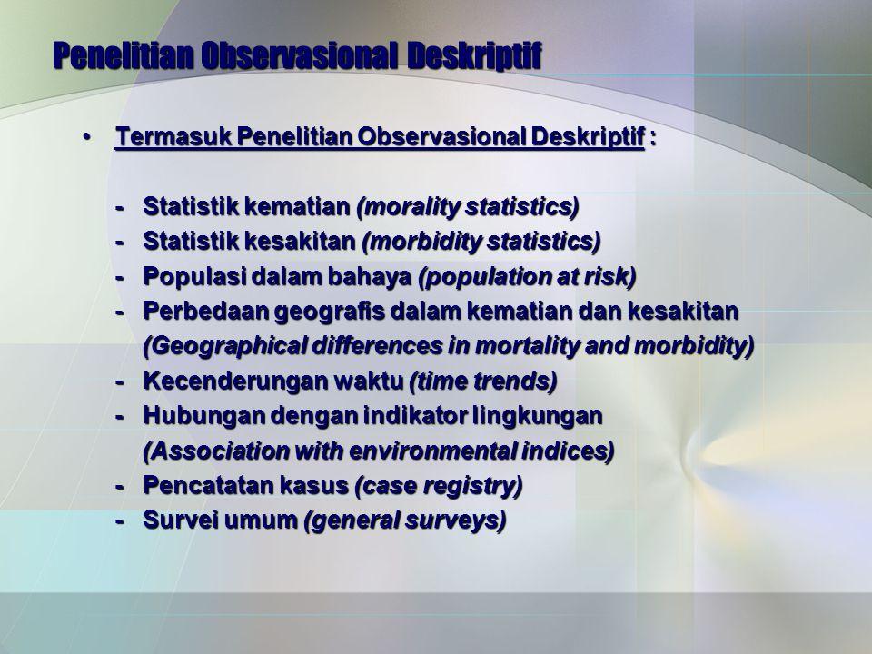 Penelitian Observasional Deskriptif