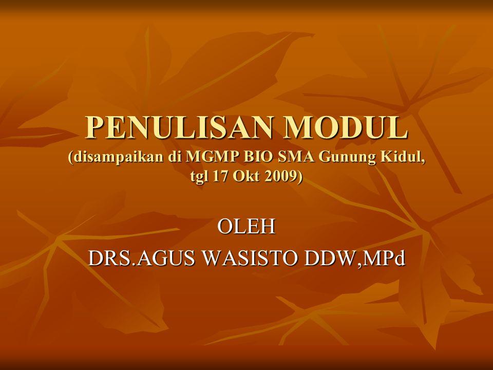 OLEH DRS.AGUS WASISTO DDW,MPd