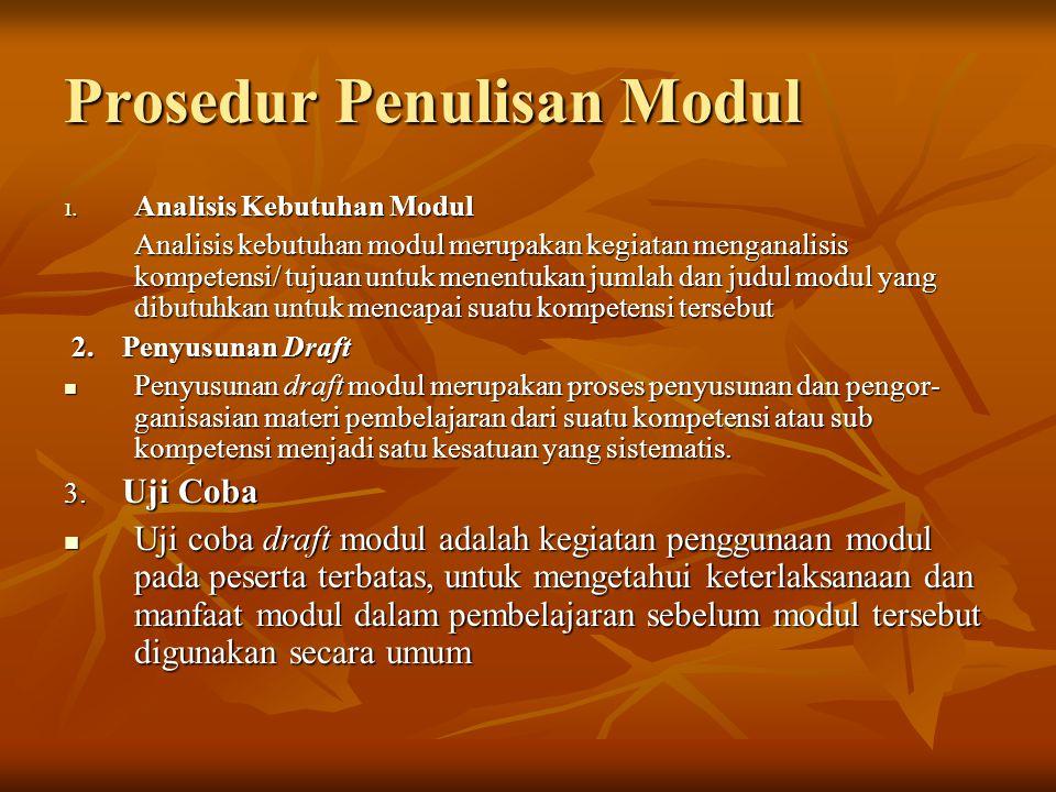 Prosedur Penulisan Modul