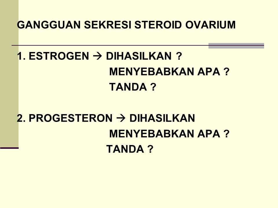 GANGGUAN SEKRESI STEROID OVARIUM