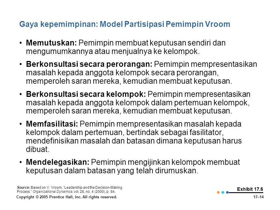 Gaya kepemimpinan: Model Partisipasi Pemimpin Vroom