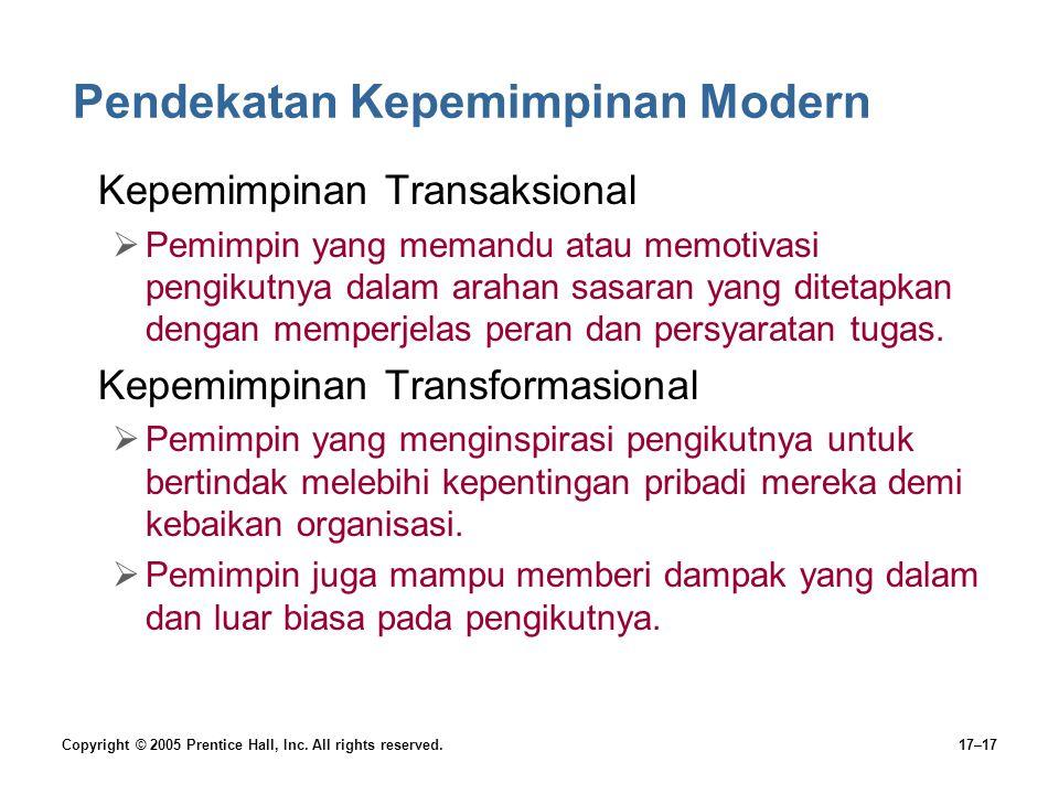 Pendekatan Kepemimpinan Modern
