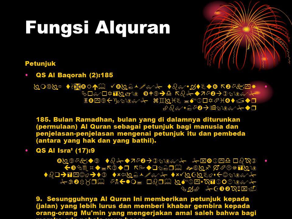 Fungsi Alquran Petunjuk QS Al Baqorah (2):185