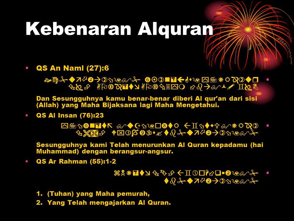Kebenaran Alquran QS An Naml (27):6