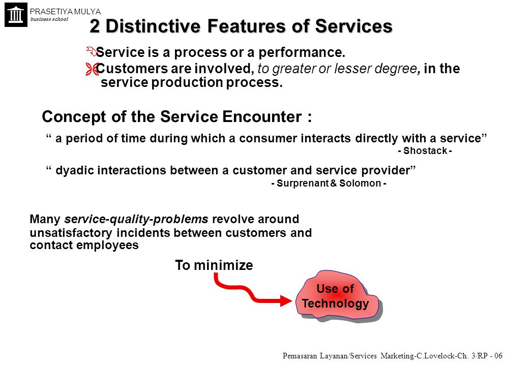 2 Distinctive Features of Services